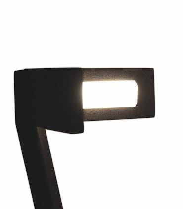 Detallle de la parte superior con su difusor de luz Lámpara pie Vector Negro 7333 Mantra