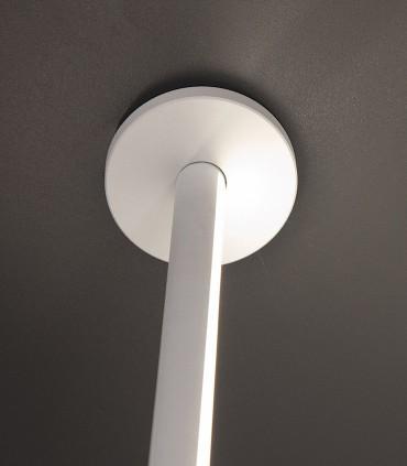Detalle sujeción al techo Lámpara pie Vertical Blanco Led 7349 Mantra