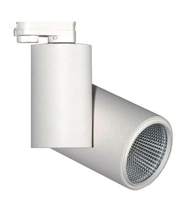 Foco de carril Trifásico Blanco 20W PRO CRI97 YLD para iluminación técnica