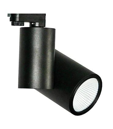 Foco de carril Trifásico Negro 20W PRO CRI97 YLD para iluminación técnica