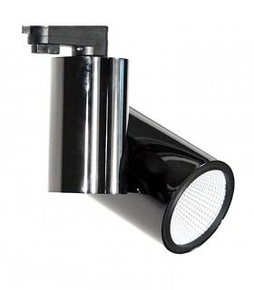 Foco de carril Trifásico Grafito 20W PRO CRI97 YLD para iluminación técnica