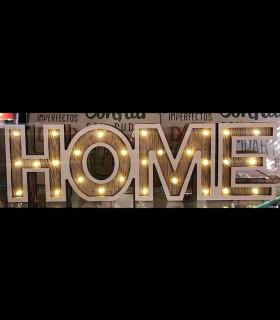 Adorno HOME Letras con luces led a pilas