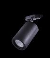 Foco de carril para Bombilla GU10 Trifásico Negro YLD