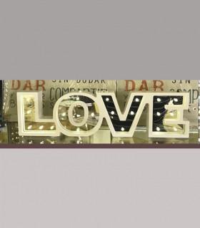 Adorno LOVE Letras Blancas con luces led a pilas