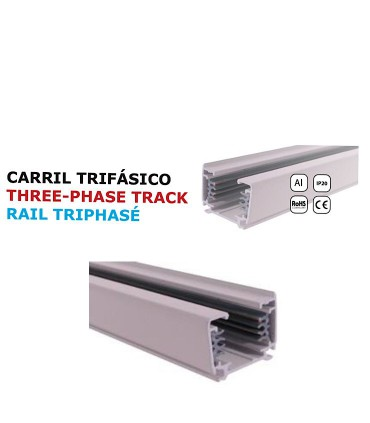 Carril YLD Trifásico 2 Metros Blanco