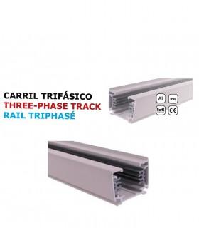 Carril YLD Trifásico 1 Metro Blanco