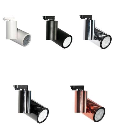 Colores de Foco de carril Trifásico 20W PRO CRI97 YLD para iluminación técnica