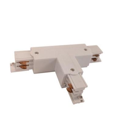 Conector T Carril Trifásico YLD Blanco