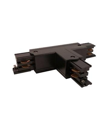 Conector T Carril Trifásico YLD Negro