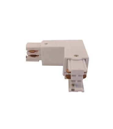 Conector L Carril Trifásico YLD Blanco