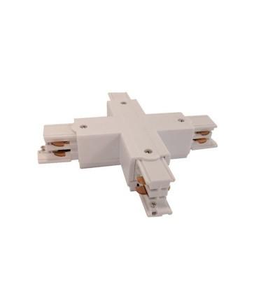 Conector X Carril Trifásico YLD Blanco