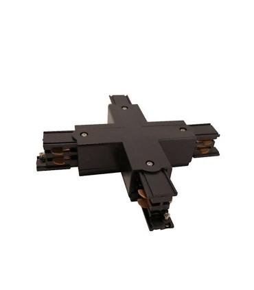 Conector X Carril Trifásico YLD Negro