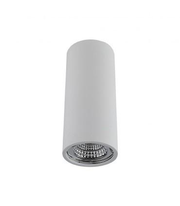 Plafón Tubo 1 Luz para GU10 14cm Blanco  YLD