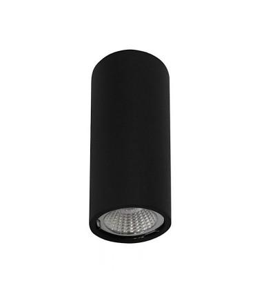 Plafón Tubo 1 Luz para GU10 14cm NegroYLD