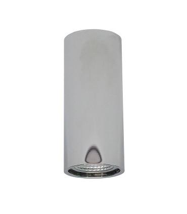 Plafón Tubo 1 Luz para GU10 14cm Cromo YLD