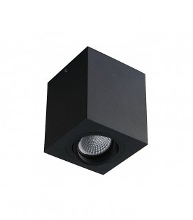 Foco de superficie Orientable CUBO 90mm NEGRO GU10 YLD