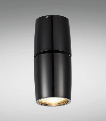 Foco Superficie Bombilla GU10 Redondo Negro YLD