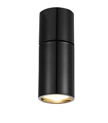 Foco Superficie Articulado Bombilla GU10 Redondo negro YLD NC1800