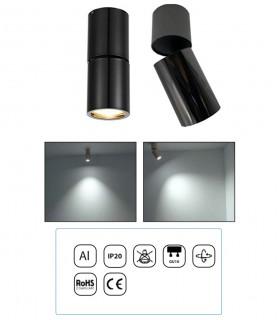 Características Foco Superficie Articulado Bombilla GU10 Redondo YLD NC1800